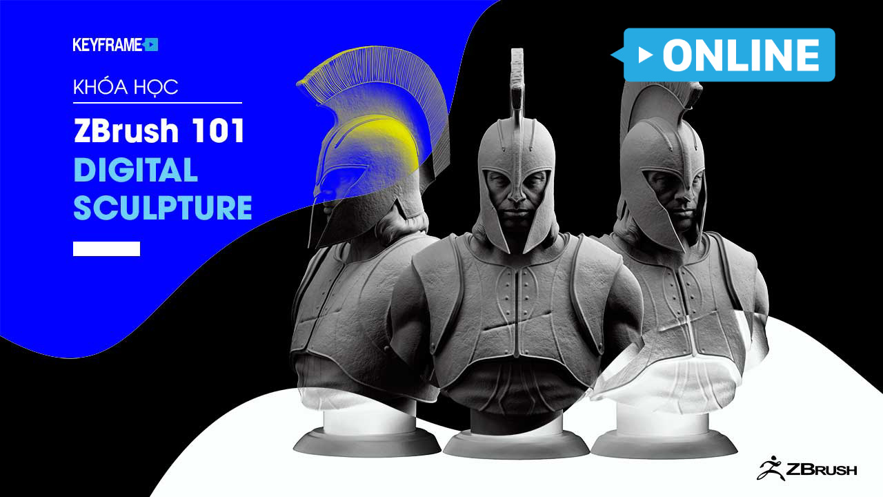 Khóa Học ZBrush Online 101 Digital Sculpture