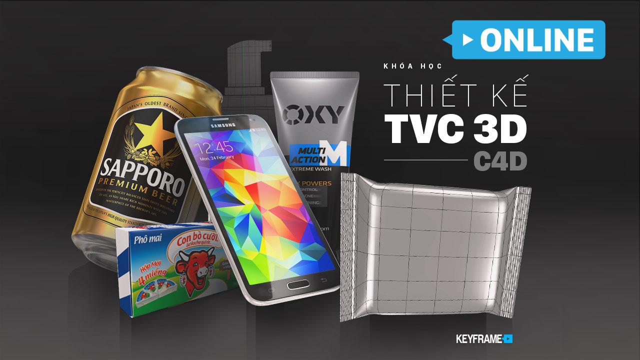 Khoá học thiết kế TVC 3D C4D Online